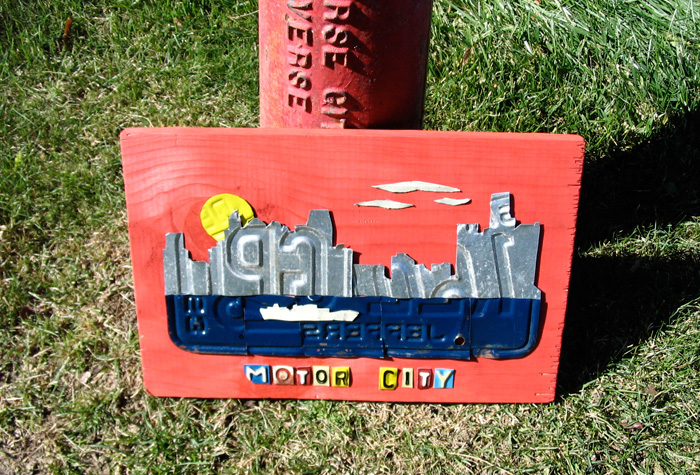 Motor City Detroit License Plate Art Michigan