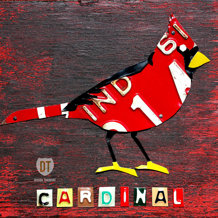 Indiana Cardinal License Plate Art