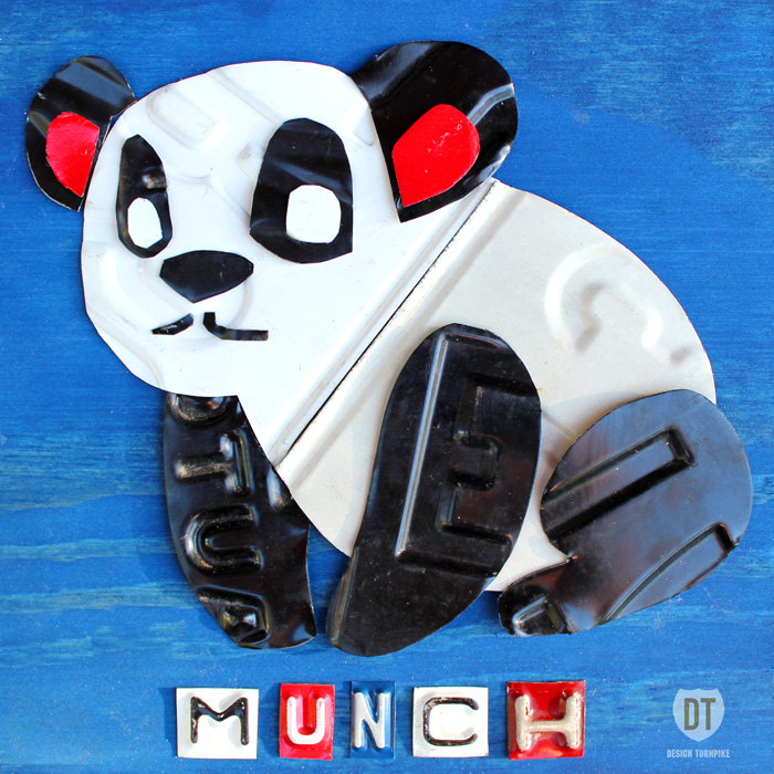 License Plate Art Panda Munch Animal