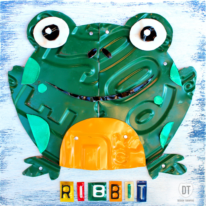 License Plate Art Frog Animal