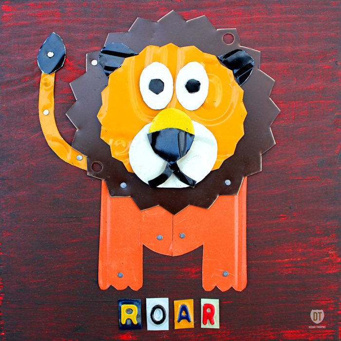 Roar the Lino LIcense Plate Art