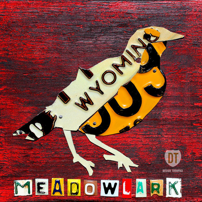 Wyoming Meadwolark License Plate Art