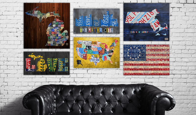 License plate art and license plate maps by design turnpike get started im also interested in custom commissioned work if you would like to discuss a project or have any questions comments about my work solutioingenieria Choice Image