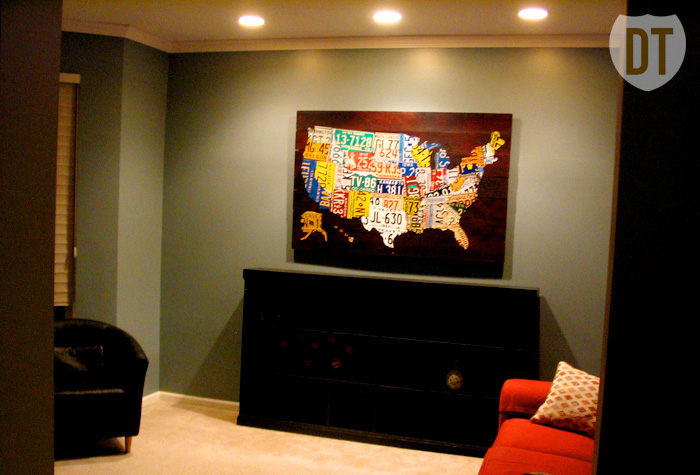 License Plate United States Map.License Plate Art And License Plate Maps By Design Turnpike