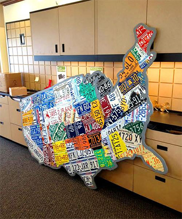 Purchase License Plate Art And License Plate Maps By Design Turnpike - Us map made out of license plates