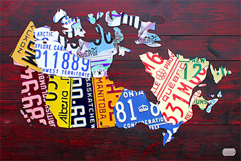 Purchase USA License Plate Maps By Design Turnpike - License plate usa map