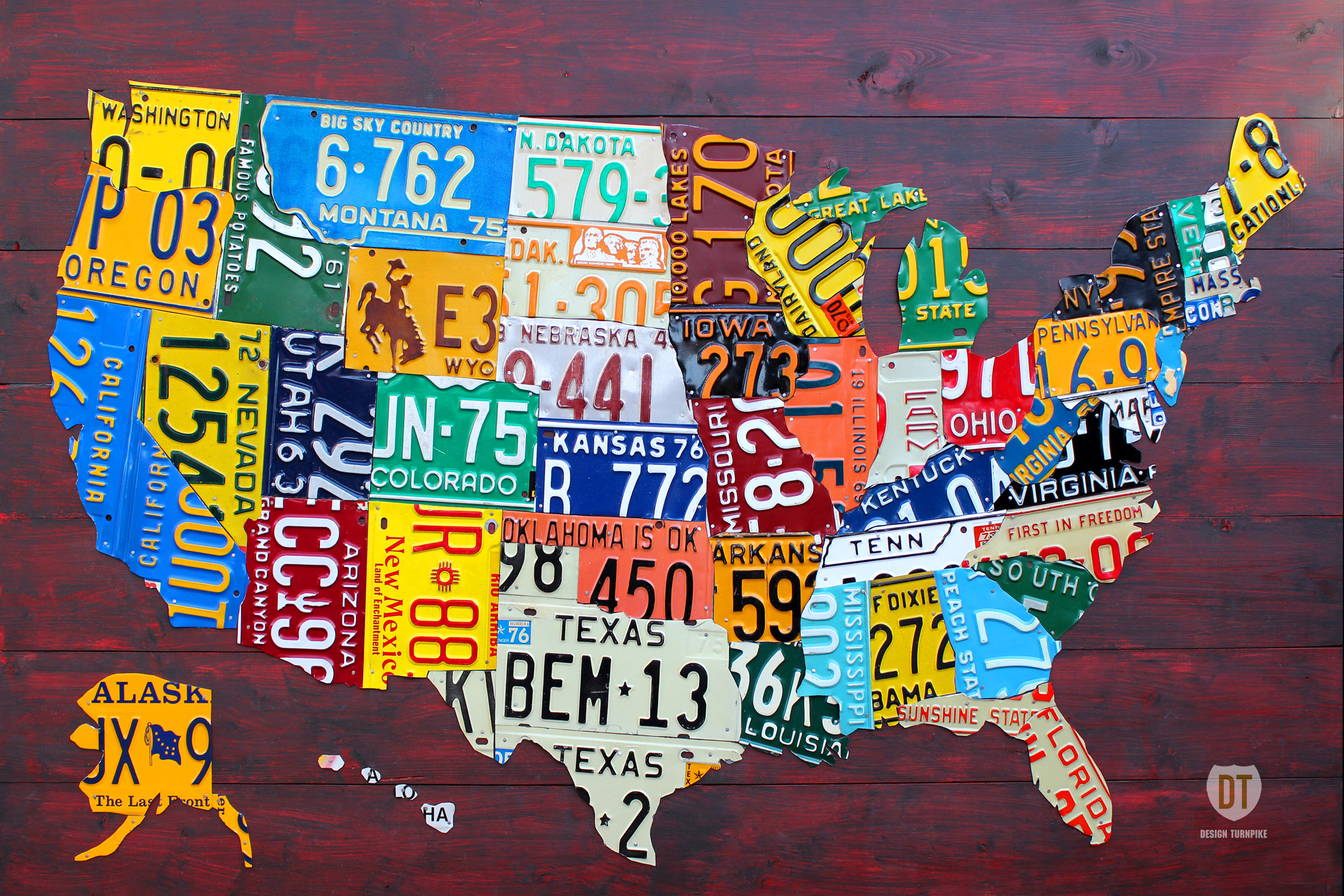 The US States How Many Have You Been To - The usa map