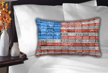 License Plate Flag Pillow