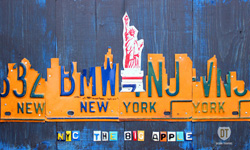 New York Skyline License Plate Art