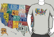 License Plate Map Shirt