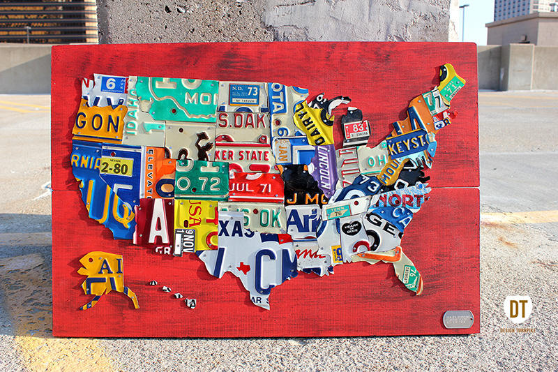 Purchase USA License Plate Maps By Design Turnpike - Us map license plate puzzle