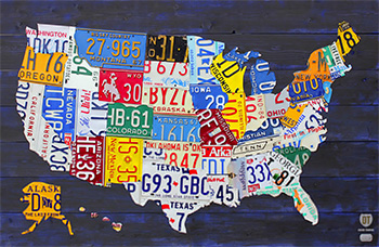 License Plate Art and License Plate Maps by Design Turnpike