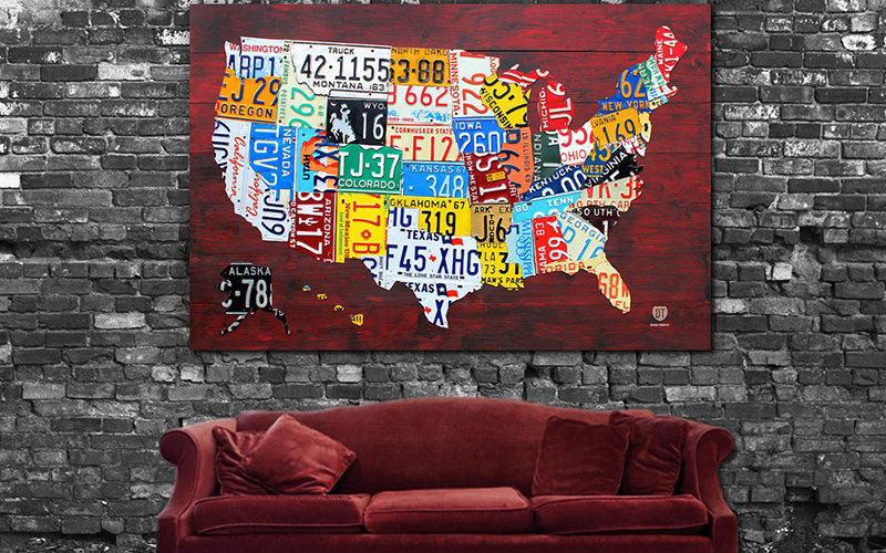 License Plate Map of America