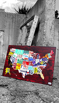 License plate art and license plate maps by design turnpike if youre in the market for handmade custom license plate art or maps you have probably looked around the web a bit and seen quite a range in prices solutioingenieria Images