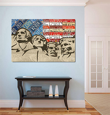 Purchase license plate art and license plate maps by design turnpike mount rushmore american flag license plate art solutioingenieria Images