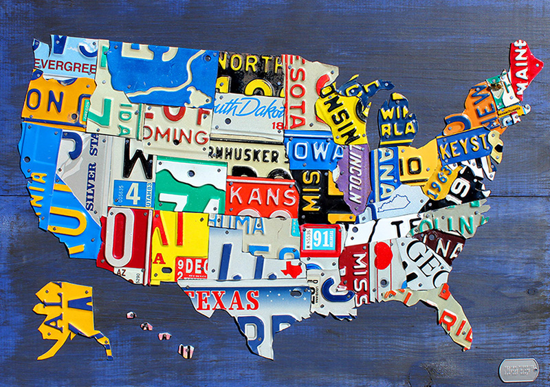 united states map license plates Purchase Usa License Plate Maps By Design Turnpike
