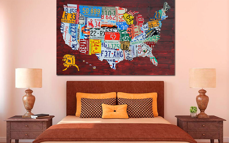 License Plate State Map.Purchase License Plate Art And License Plate Maps By Design Turnpike
